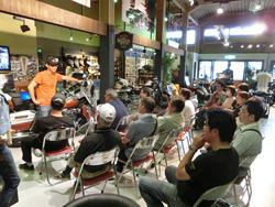 ハーレー正規販売店にて、ライディング上達セミナーを定期開催中